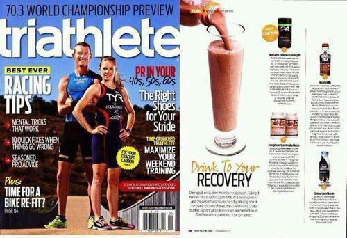 Oh yea. And this - Rebuild Strength was voted the #1 recovery drink by Triathlete Magazine. Word.