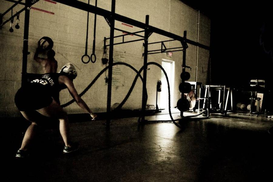 At CrossFit Collective doin' work