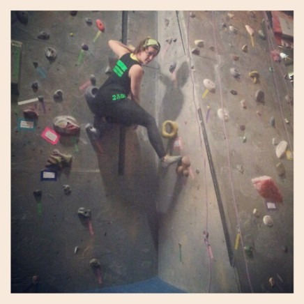 Bouldering is so much fun, and a true mental challenge - you know.. when you're not posing for a camera