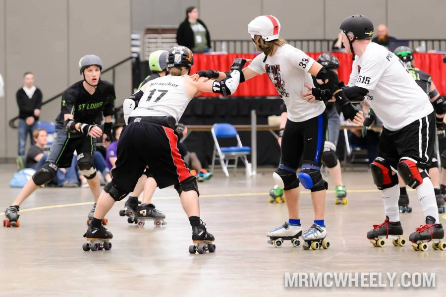 Southern Discomfort v Gatekeepers at Spring Roll 2014. Did you watch it? Why not?? Great examples of partner and diamond blocking, footwork, and offensive work. Photo by Mr. McWheely