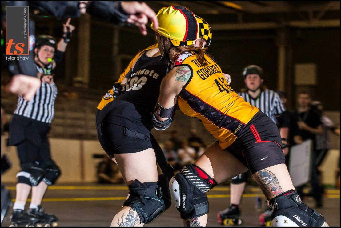Backwards blocking is this thing she does VERY well. Photo by Tyler Shaw