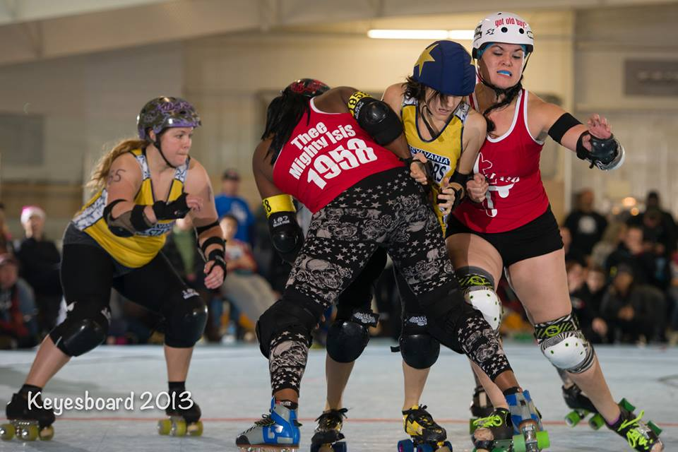 Isis and Treehorn work together on Team Maryland Photo by Keyesboard