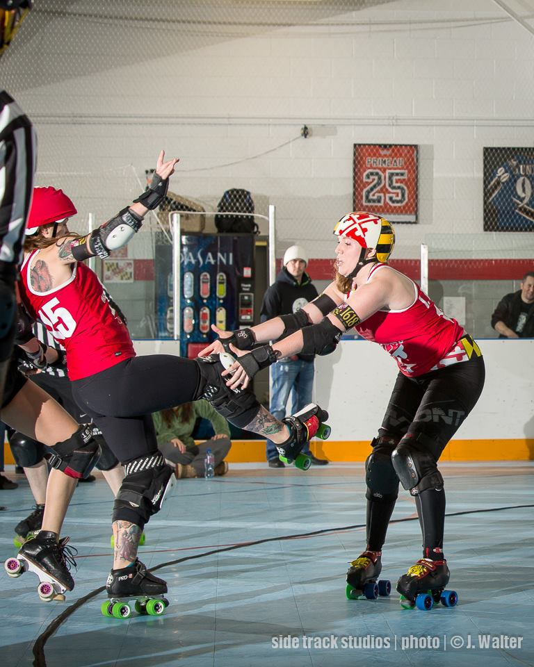 IM Pain helps Holly Go Hardly on Team Maryland.  Photo by Side Track Studios