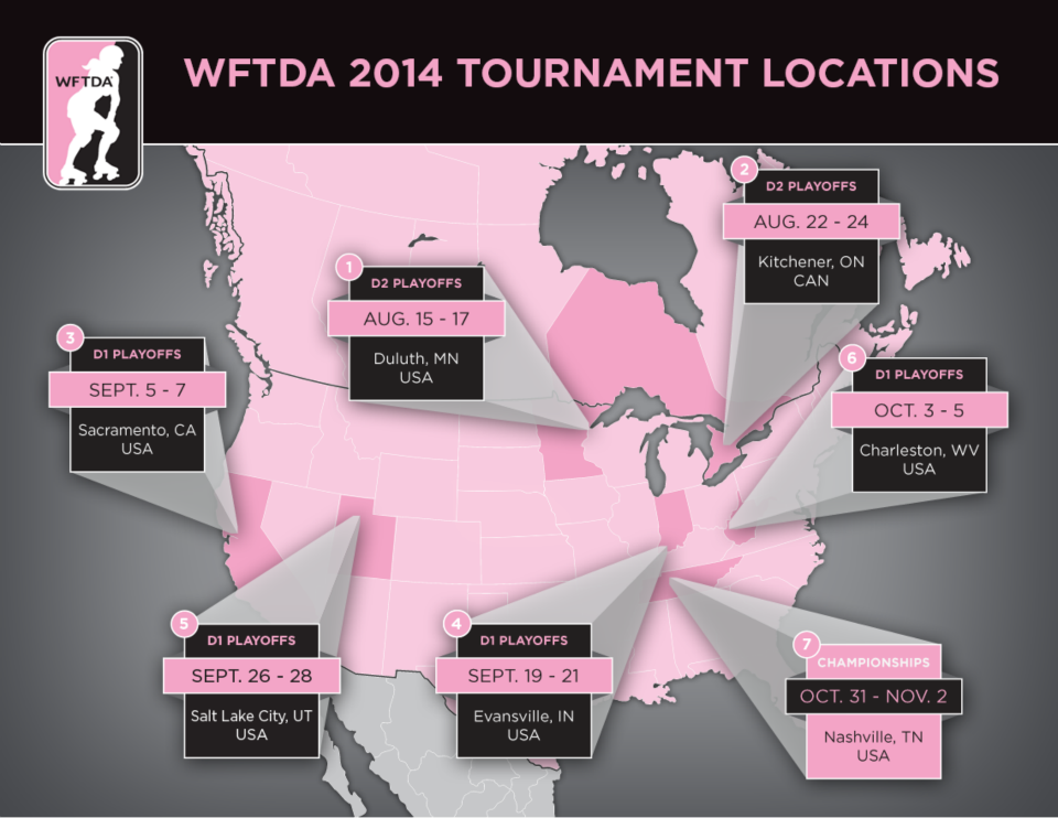 2014 WFTDA Divisional Post-Season Photo by the WFTDA