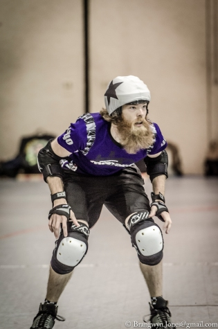 Unleashing the power of the beards. Photo by Brangwyn Jones.