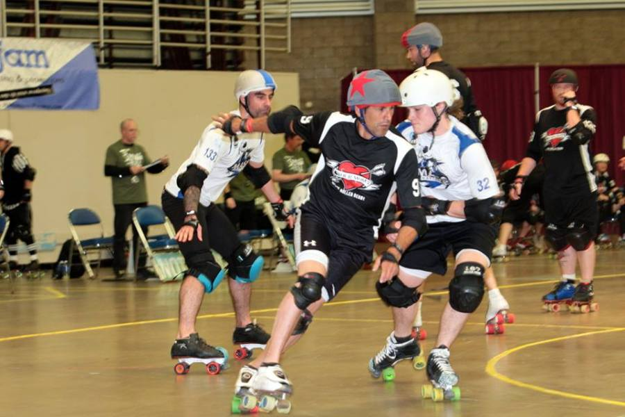 "Frank Notsohotra - commonly referred to as ""The fastest man in roller derby."" Photo by DeFord Designs"